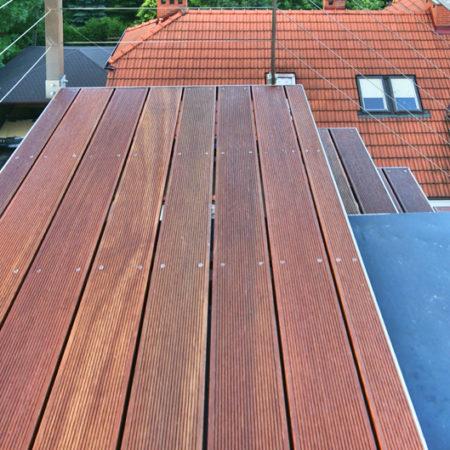 Taras Bangkirai na dachu